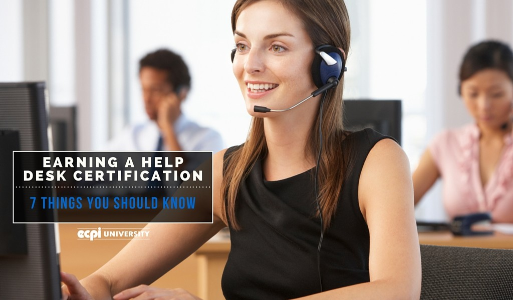 Earning a Help Desk Certification